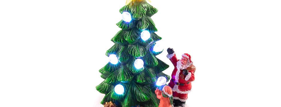 Juletræ med led lys 17,5cm højt