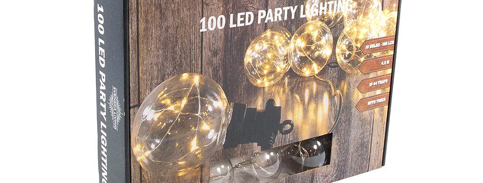 Fest lyskæde med 100 led