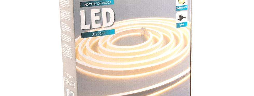 Reblys 10m varm hvid neon led.