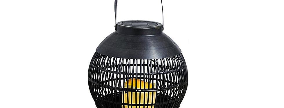 Solcelle lanterne med flame effekt