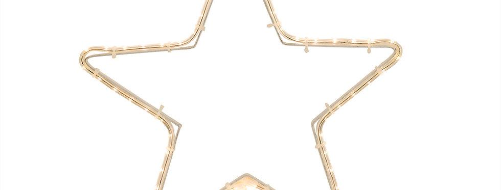 Flad reblys stjerne 30x30cm