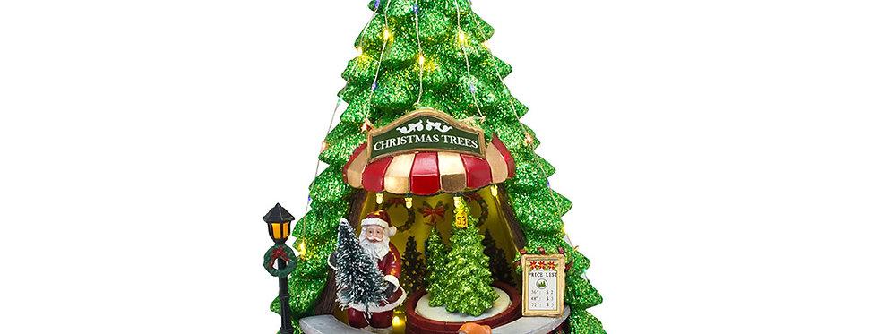 Juletræ med bevægelse, lys og musik