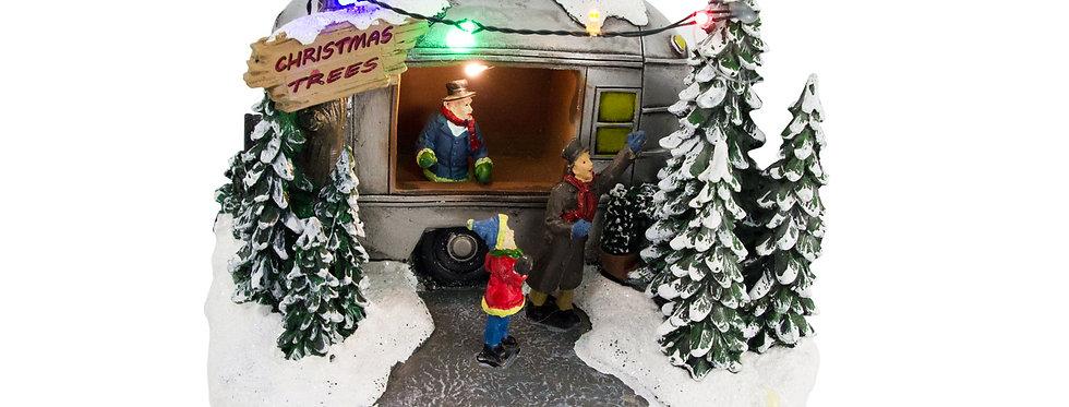 Juletræs salgsvogn