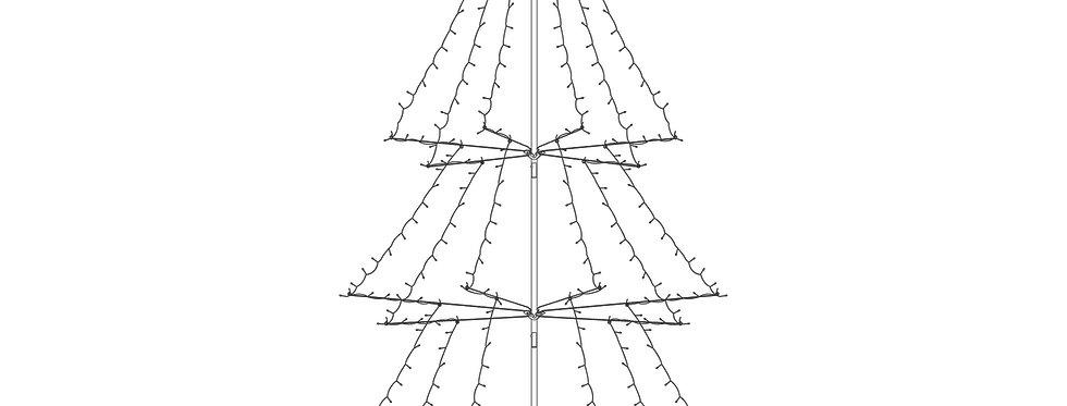 Foldbart juletræ 1,8m høj 330 led