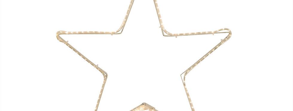 Flad reblys stjerne 55x55cm