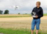 DJI Phantom Drone i luften