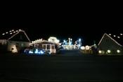 Komplet julelys show på 4 huse