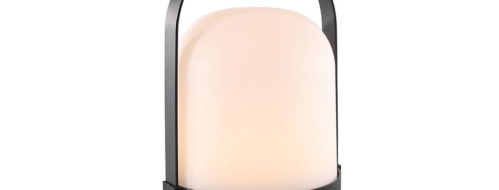Bord lampe med rigtig flame effekt