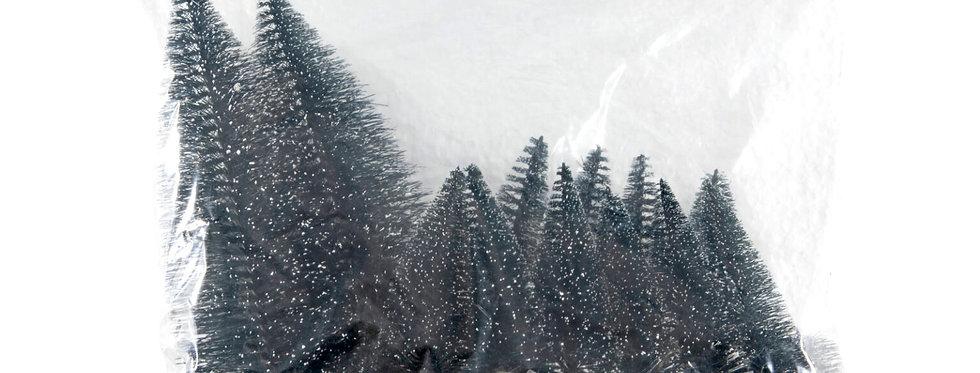 16 stk. Dekorations juletræer