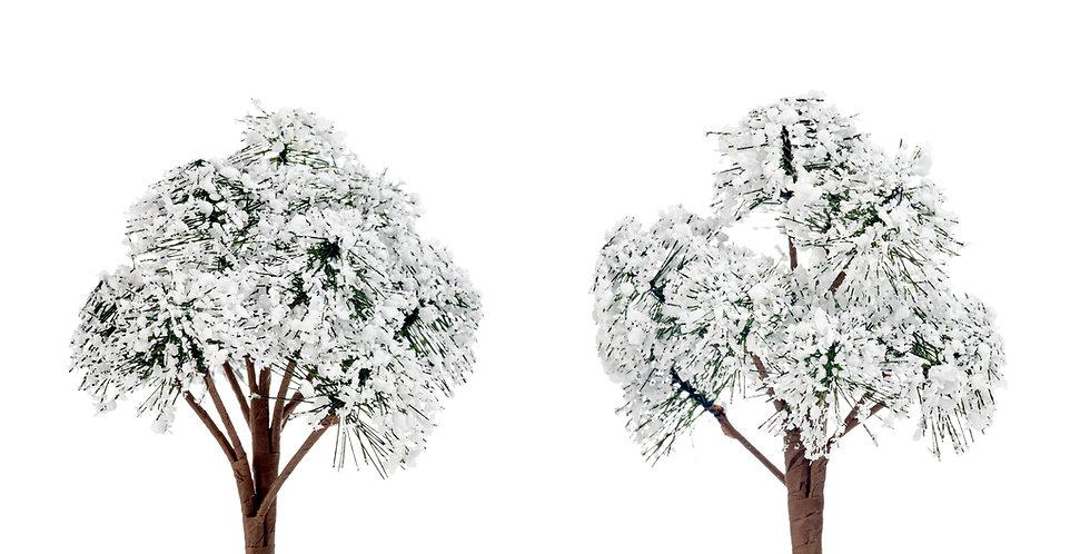 2 stk. Dekorations juletræer 12 cm