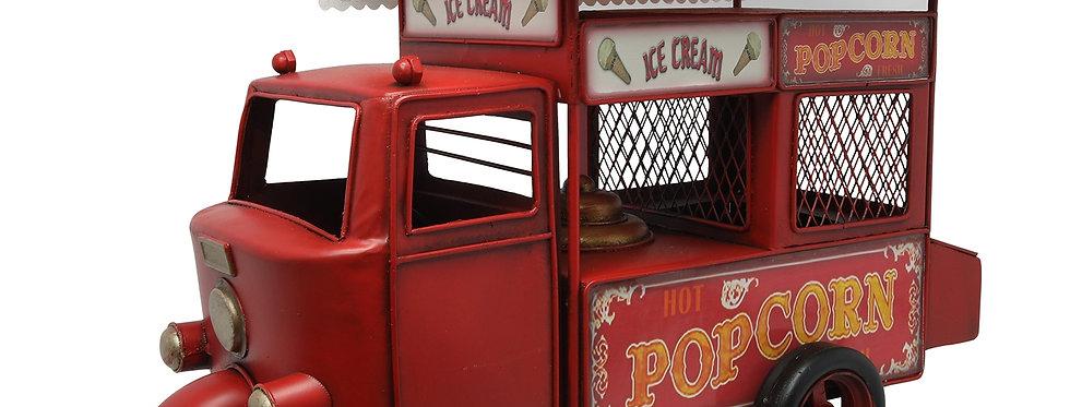 Retro metal Popcorn tuc tuc bil med sparebøsse