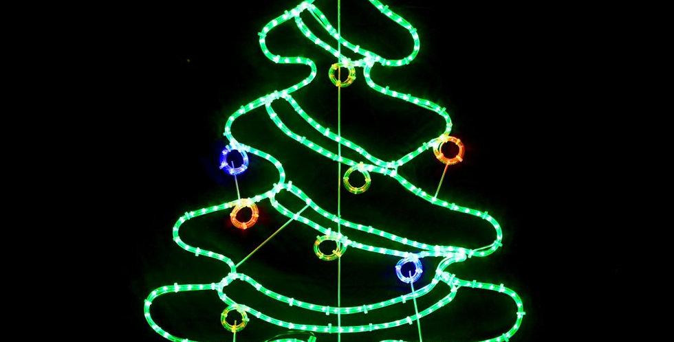 Juletræ med kugler og stjerne
