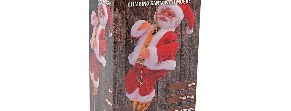 Julemand som kravler med musik