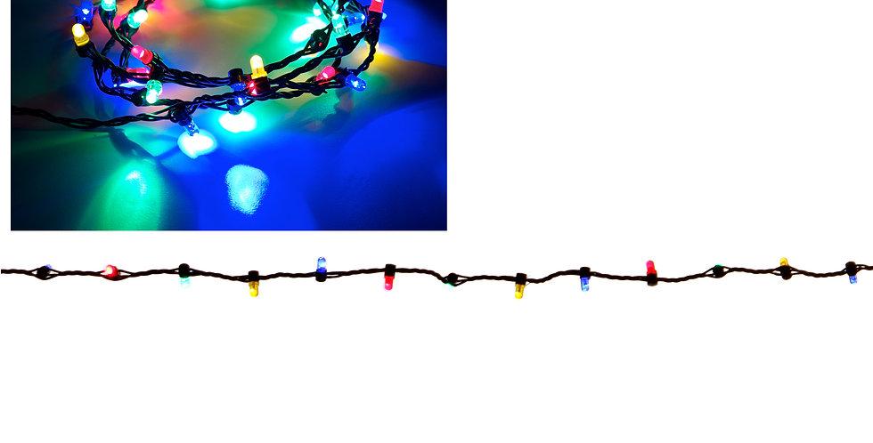 Multi farvet mini lyskæde Luville