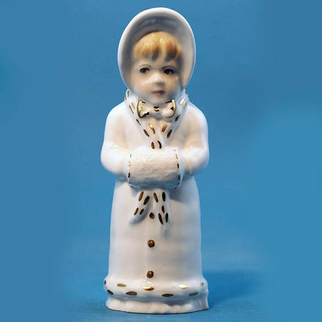 Worcester Girl with Muff Collectors Society only