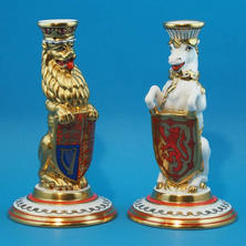 Queens Beasts Candlesticks Limited Edition for Queens Silver Jubilee