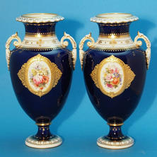 Pair of Vases Signed A. Gregory