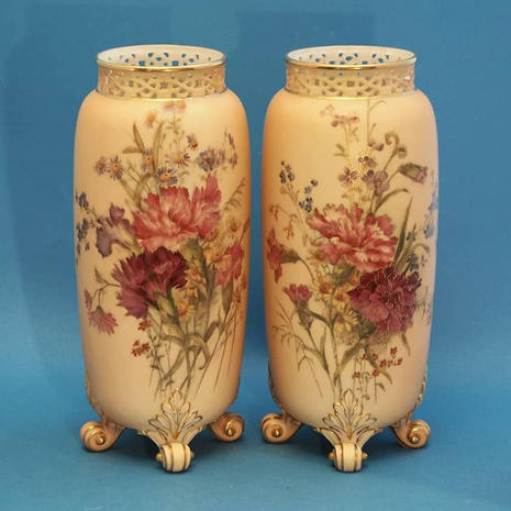Pair of Blush Spill Vases