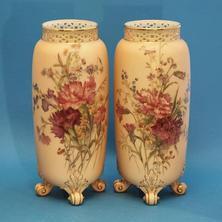 Pair of Blush Spill Vases