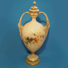 Blush Vase & Cover In the Style of E. Raby
