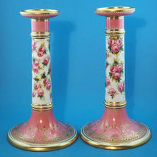 Pair of Candlesticks Signed J. Wallace