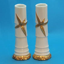 Pair of Bamboo Vases