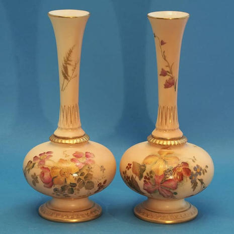 Pair of Blush Vases