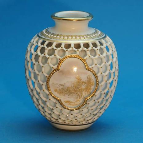 Worcester Reticulated Vase