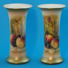 Pair of Spill Vases Signed Ricketts
