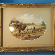 Milwyn Holloway Framed Porcelain Plaque