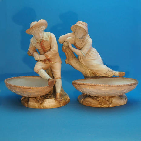 Pair of Boy & Girl Comports
