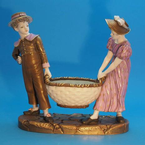 Double Figure with Basket