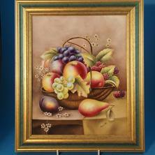 Bryan Cox Plaque Fruit in Basket