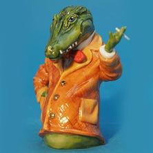 Crocodile Orange Jacket