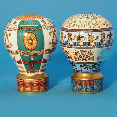 Worcester Pair of Balloons Egypt and Zodiac
