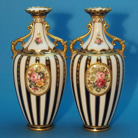 Pair of Vases Signed Mosley