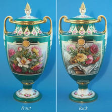 Double Sided Vase & Cover Initialed T.S for T. Sadler
