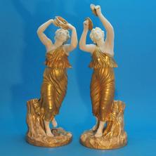 Pair of Figures Bacchante & Companion