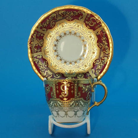 Derby Coffee Cup & Saucer