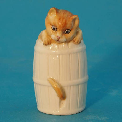 Worcester Ginger Cat in Barrel