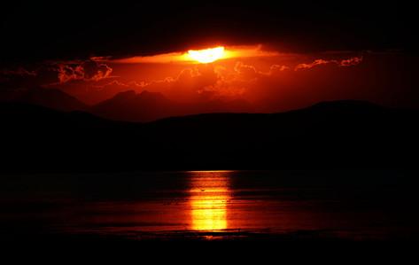 Sunset at Freezout Lake