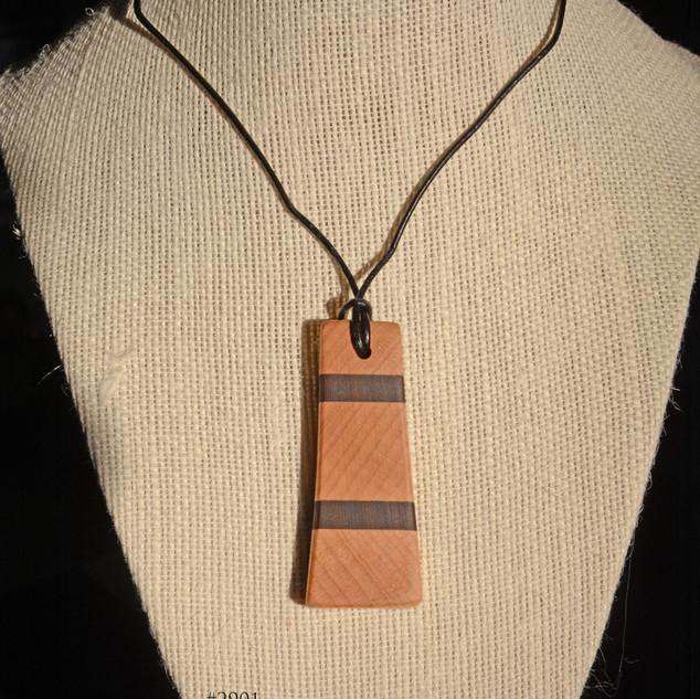 Maple and Walnut Hardwood Pendant