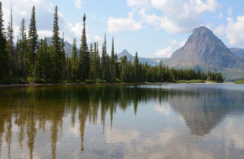 Sinopah Mountain and Pray Lake