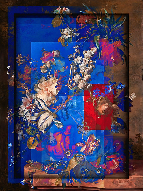 Geometric Flowers five - MetallicRoyale