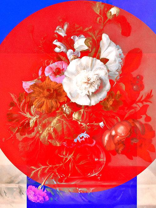 Geometric Flowers - Four - MetallicRoyale