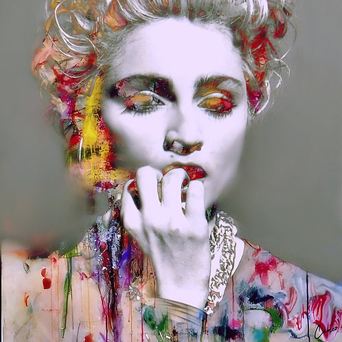 Madonna Abstract Mixed media - Cameo
