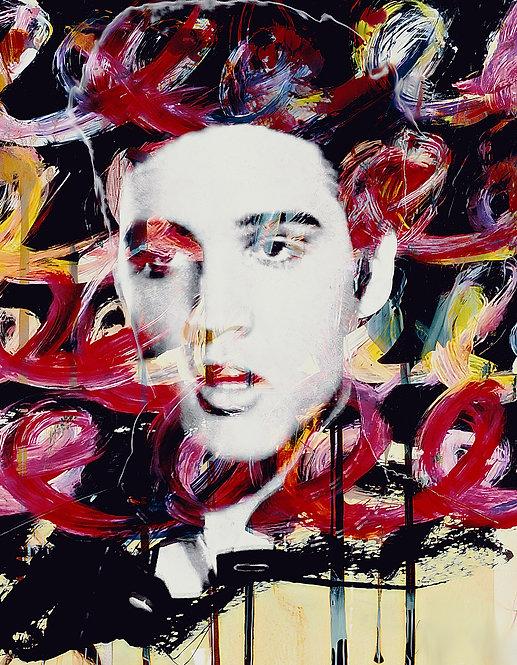 Elvis in flowers - Cameo
