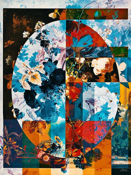 Geometric Flowers - Eight - MetallicRoyale