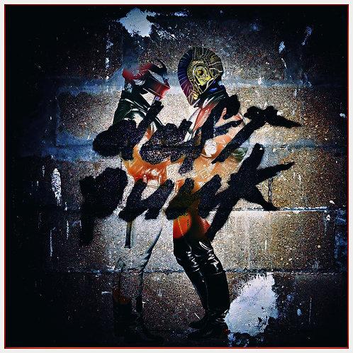 Graffiti Daft Punk - Metallic Royale