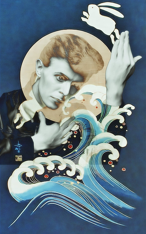 Bowie turning Japanese blue - Cameo